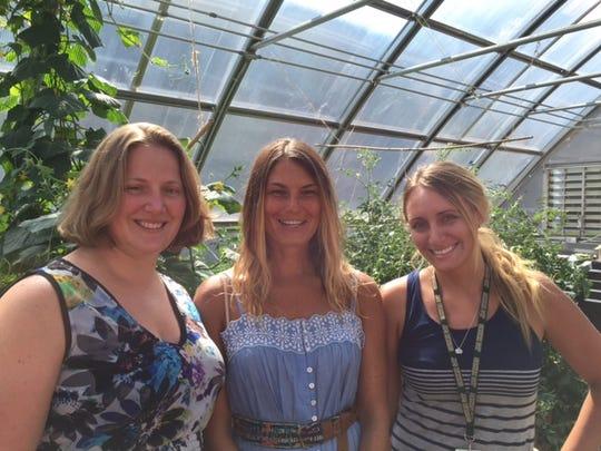 Left to right: Laura Holborow, Marissa Freeman, and Megan Gardner.