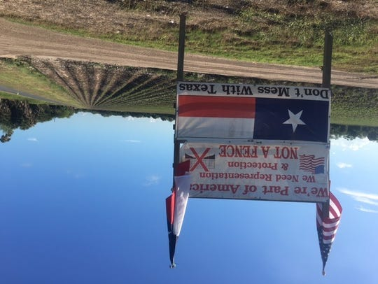 Residents living near the border in Brownsville erected