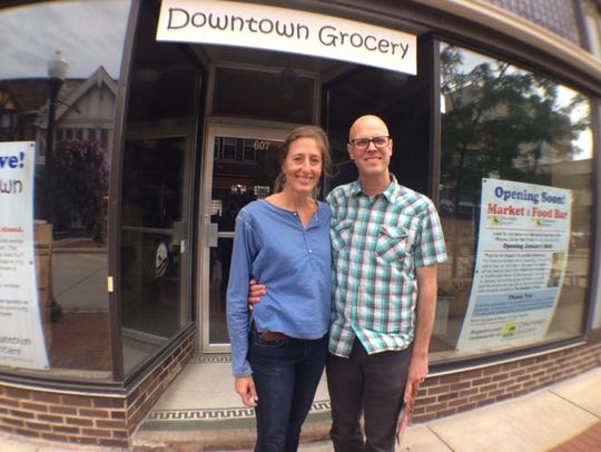 Owners of Downtown Grocery Megan Curtes Korpela and