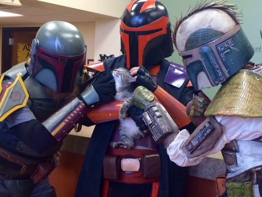 "Can you feel the ""Star Wars"" love? Members of the 501st"