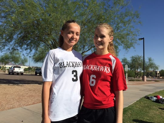 Foothills' boy soccer players elected to not play a game against Faith Christian unless Colette (left) and Alyssa Hocking were allowed to play.