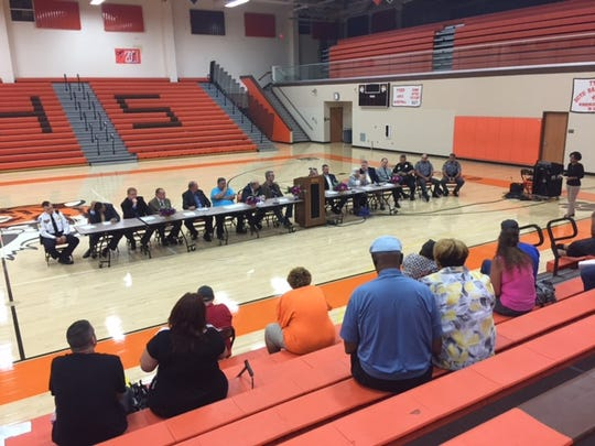 Richland Stands United held a panel discussion and community form Saturday at Mansfield Senior High School where officials, law enforcement and others discussed everything from the drug crisis to gun violence and youth programming.