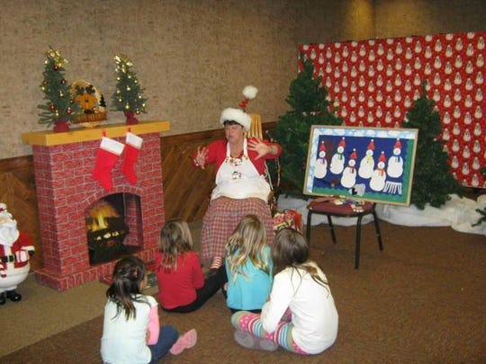 Storytelling and visiting with Santa are from 10 a.m. to 4 p.m. Nov 12 and 12:30 to 3 p.m. Nov. 13.