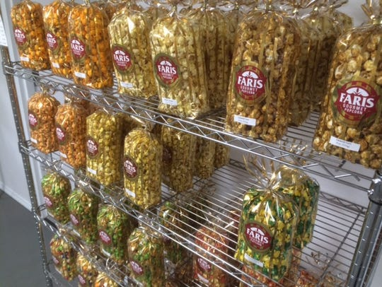Bags of popcorn can be bought off the rack in the retail