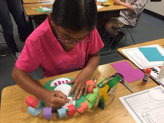 A. B. Chandler Elementary fourth-grader Sarah LaFlair
