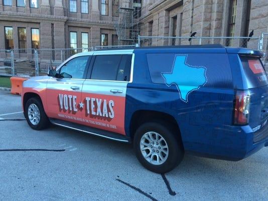 Vote Texas vehicle