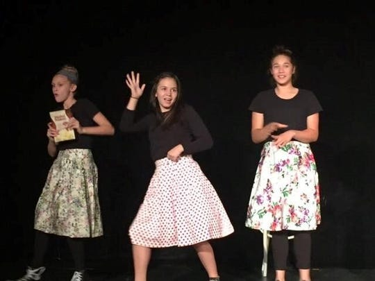 """These students at the Performing Arts Academy of Jupiter were a hit last season in the production of """"Humbletown."""""""