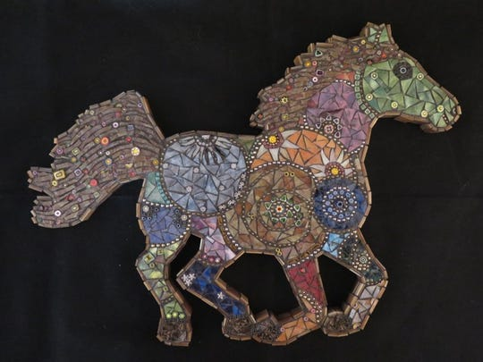 Janet Grenawalt's mosaics will be featured in this weekend's studio tour and art sale.