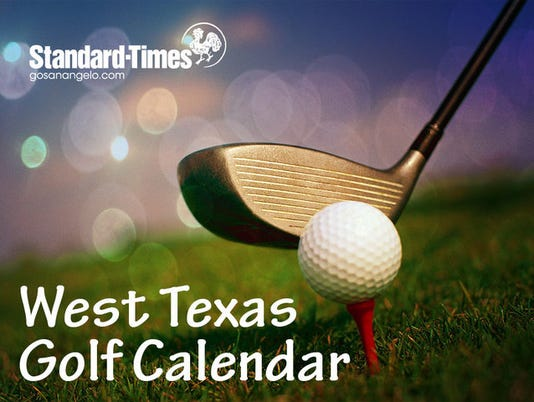 SAS Generic West Texas Golf Calendar