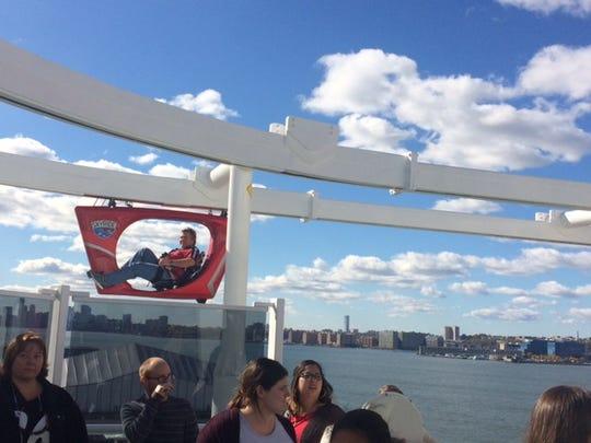 Carnival Vista's SkyRide gives guests panoramic views
