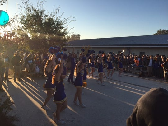 Buckeye High School celebrated becoming an A-school with a special announcement and performances by band members and cheerleaders.