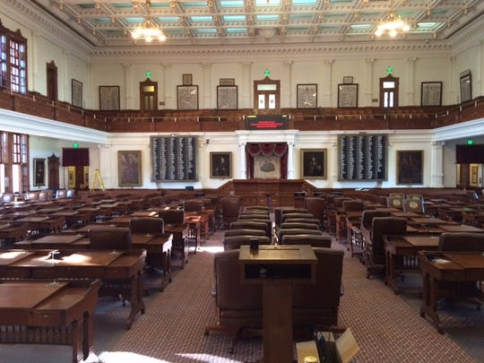 The House chamber project inside the Capitol building in Austin was nearly complete as November drew to a close.