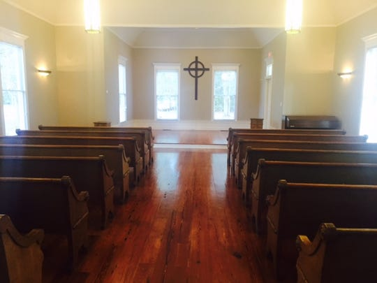 Blessings worships in the 100+ year old Chapel that