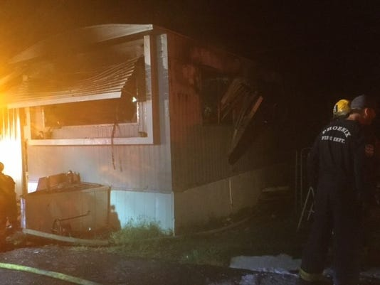 Mobile home fire near 40th Street and McDowell Road