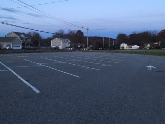 The parking lot of Mt.Laurel Park in West Milford on Nov. 8. On Nov. 7, Kelly Vaughn Chalkley was struck and killed by a vehicle at the site while walking the family St. Bernard, Misty.