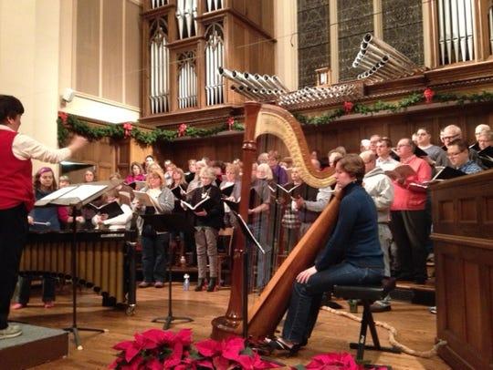 The Wausau Lyric Choir performs during their 2013 Christmas