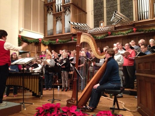 The Wausau Lyric Choir performs during their 2013 Christmas concert. They will perform Saturday and Sunday this weekend.