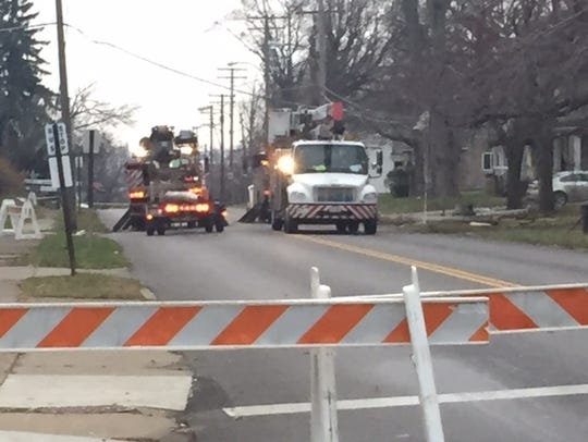 A portion of South Main Street remains closed Tuesday