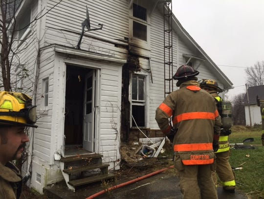 Mansfield firefighters Tuesday afternoon extinguished