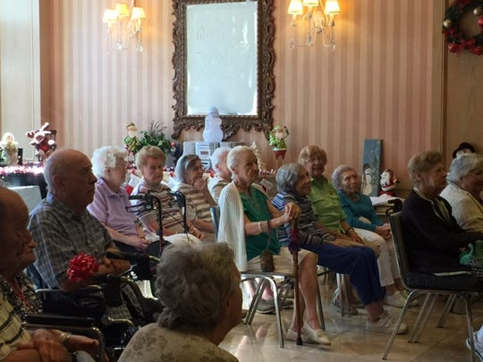 About 65 Brookdale residents enjoyed the chorale's holiday performance.