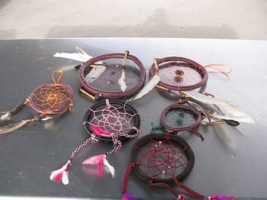 Liquid meth was found inside the hoops of dreamcatchers