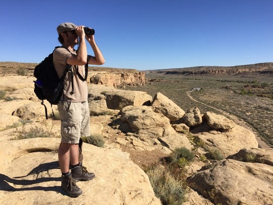 John Vokoun overlooks Chaco Canyon during his stay at Chaco Culture National Historic Park in November.