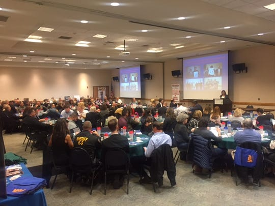 """Audience: Over 150 professionals attended the Hunterdon Prevention Resources (HPR) and Safe Communities Coalition of Hunterdon/Somerset annual Conference """"Our Communities' Greatest Challenges"""" at Raritan Valley Community College."""