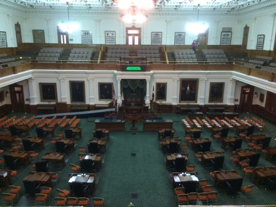 The Texas Senate Chamber was empty on Tuesday morning but will be packed once the 2017 legislative session opens at noon.