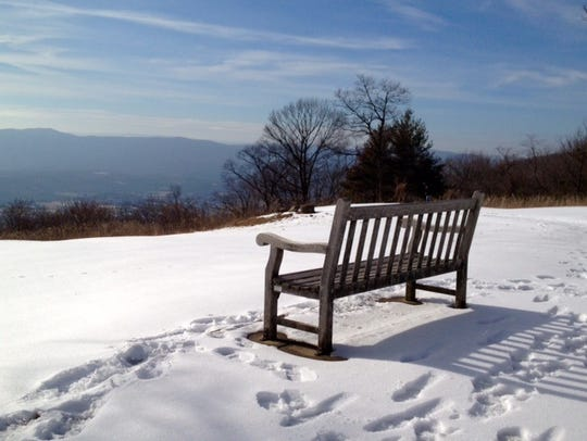 A winter vista provides scenery you won't find during