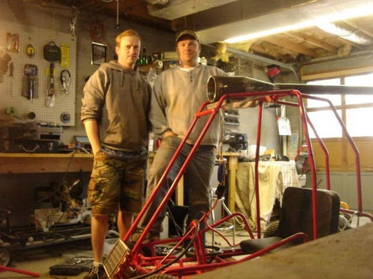 Using salvaged parts from Biltmore Iron & Metal, Chad Slagle and Keith Mort have collaborated to build things such as a turbo-powered go-cart.