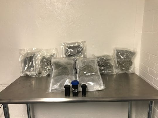 Wichita Falls police seized over four pounds of marijuana during a traffic stop on Jan. 26, 2017.