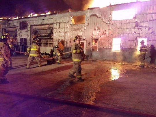 Fire destroyed the Sunnyburn Welding shop in Lower Chanceford Township on Jan. 31, 2017. (Photos courtesy of South County Fire Photos)