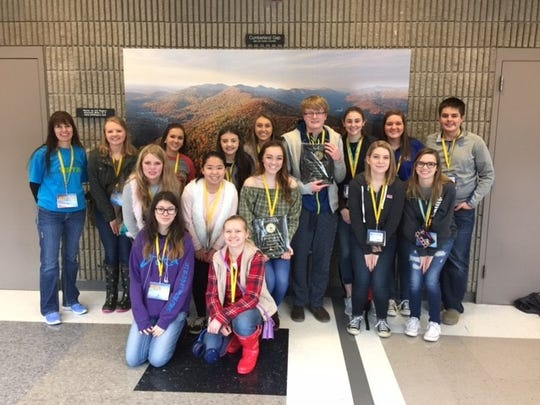 Pictured are the fifteen members of the UCHS Beta Club that competed at the Beta Club state convention.