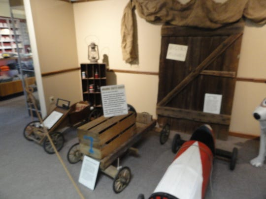 Cars on display at Webster Museum and Historical Society.