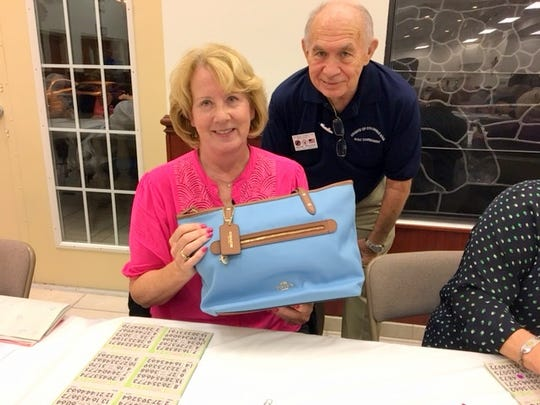 On Thursday, Feb. 2, the Knights of Columbus San Marco Council #6344 hosted a Bingo fundraiser in the San Marco Parish Center. The Coach bag winner was Rita Perone of Illinois.