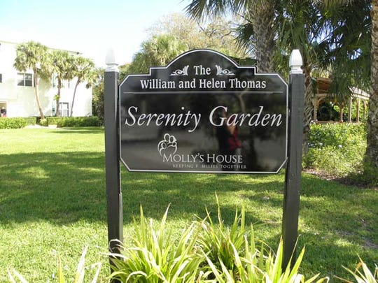 The Serenity Garden is another spot for peaceful reflection