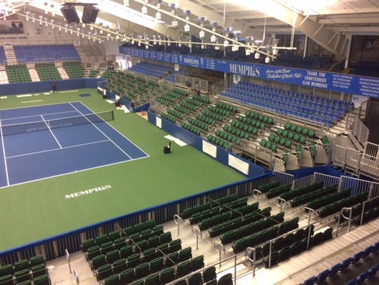 The Racquet Club's Stadium Court seating has been significantly