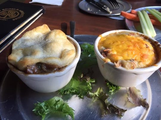 Clancy's Tavern and Whiskey House in downtown Knoxville serves food tour customers homemade Irish Shephard's Pie and Banger's and Mash.