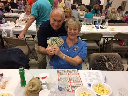 On Thursday, Feb. 23, the Knights of Columbus San Marco Council #6344 hosted a Bingo fundraiser in the San Marco Parish Center. One of the jackpot winner was Betty Fusco, above.