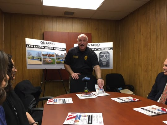 An Ontario Law Enforcement Museum is expected to be completed by June outside Ontario City Hall. Area residents can participate in fundraising efforts by eating at TGI Fridays on Lexington-Springmill Road on March 6, 7, 8, 13,14, and 15. The restaurant will donate 20 percent of your food sales to the effort.  Ontario police Chief Rodney Smith explains the project Thursday.