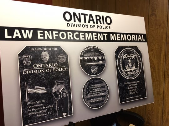 These designs will be part of the new Law Enforcement Memorial outside Ontario City Hall.