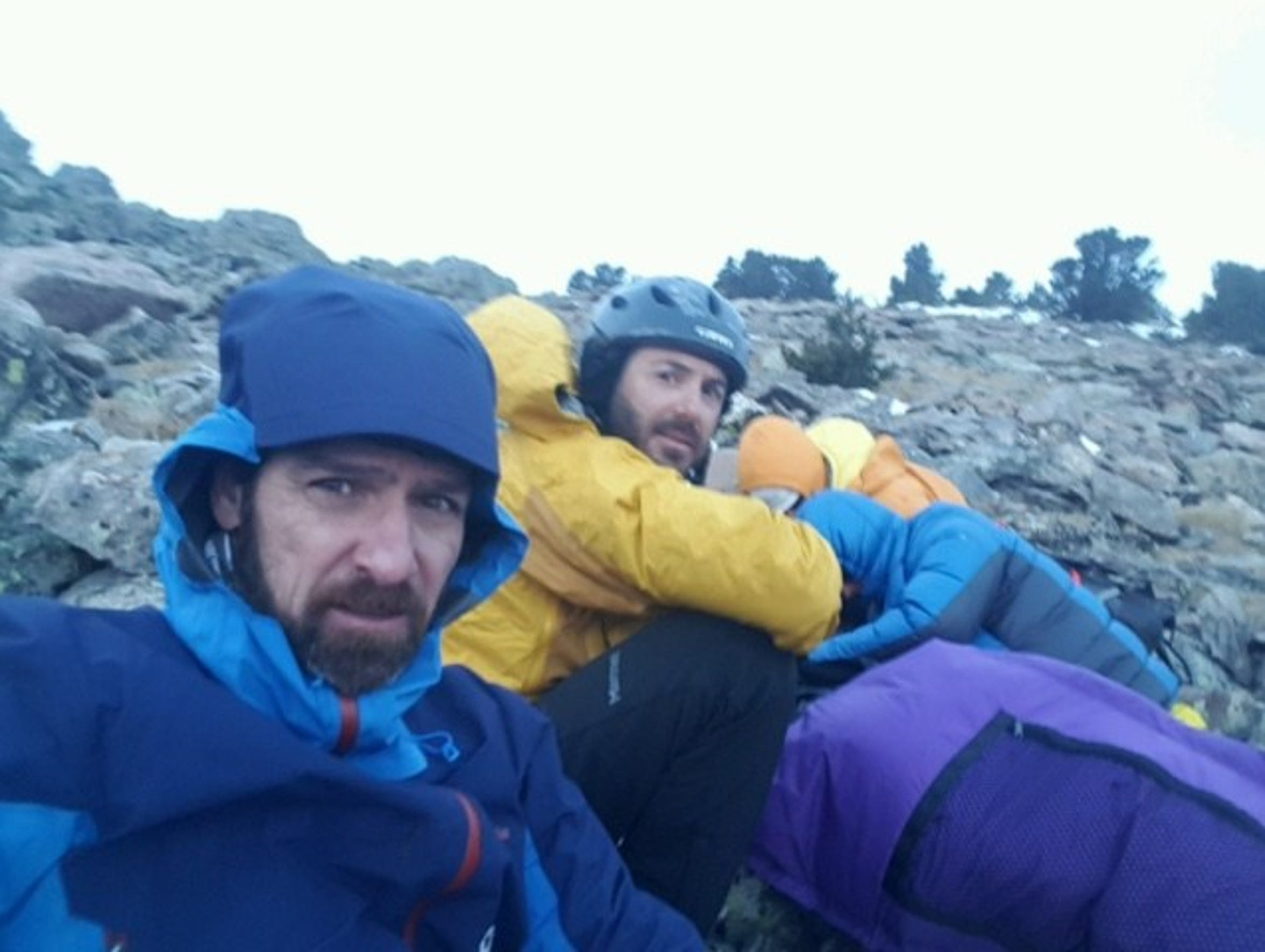 Fort Collins mountaineer Jim Davidson, left, and rescue