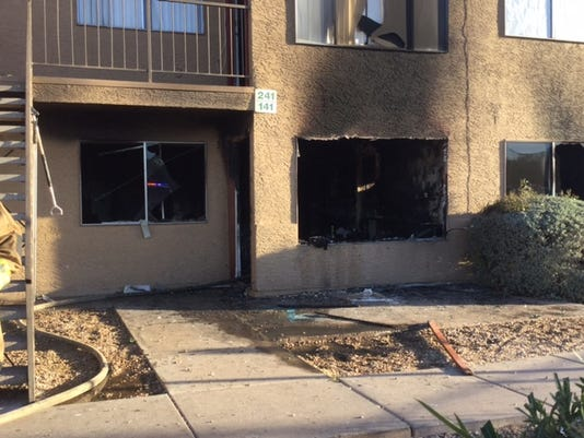 Family burned in apartment fire