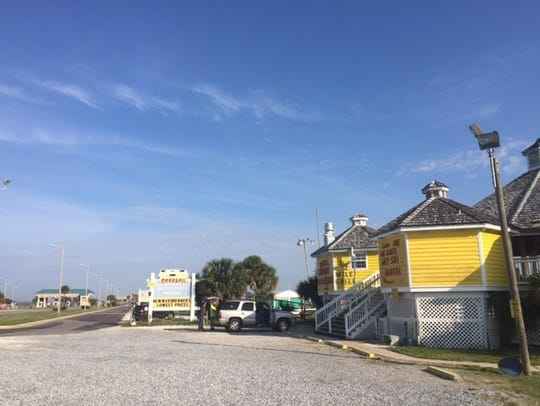 Pensacola Beach entrance toll booths and Bonifay Watersports