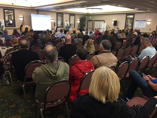 About 100 people attended a public meeting in Simi Valley in February to give feedback to the U.S. Department of Energy on its proposed cleanup plan for the nearby Santa Susana Field Laboratory, site of a 1959 partial nuclear meltdown. Much of the feedback was negative. The meeting was held at the Grand Vista Hotel in Simi Valley.