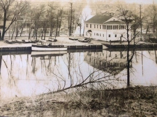 Rutherford Yacht Club, built in 1928, two years after Dick Newick was born. Newick sailed his kayaks on the Passaic River at the club house, which is now Neried Boat Club.