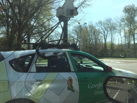 A Google Street View car in Memphis