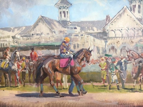 Bloom N' Deals consignment boutique is featuring the  Derby art of Paul Williams through May 6