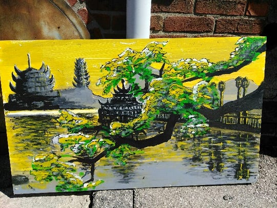 Painting by local artist David Mitchell.