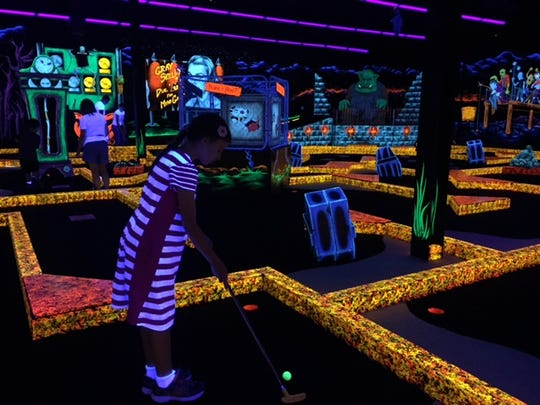Cool off and glow in the dark at Monster Mini-Golf in Eatontown.